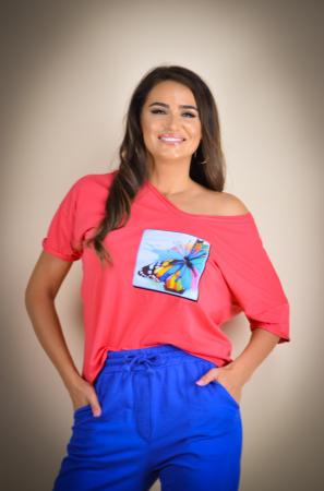 Bluza dama cu imprimeu fluture [2]