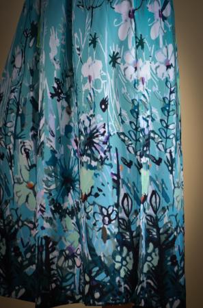 Rochie lunga cu snur in talie in degradee [6]