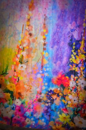 Rochie lunga cu imprimeu cu flori multicolore [6]