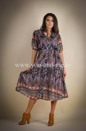 Rochie cu guler tunica si curea [1]