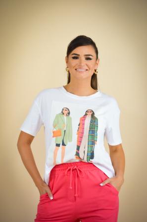 Bluza dama cu imprimeu colorat din bumbac [1]
