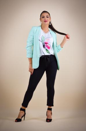 Bluza dama cu imprimeu floare, din vascoza [6]