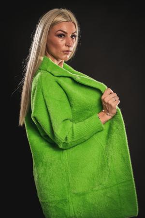 Jacheta verde din lana cu buzunare [2]