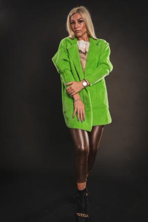 Jacheta verde din lana cu buzunare [1]