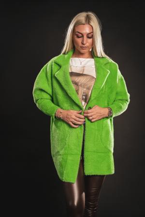Jacheta verde din lana cu buzunare [4]