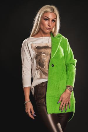 Jacheta verde din lana cu buzunare [5]