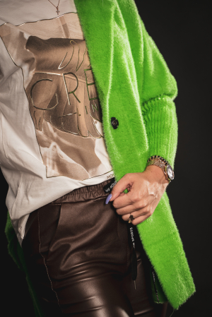 Jacheta verde din lana cu buzunare [6]