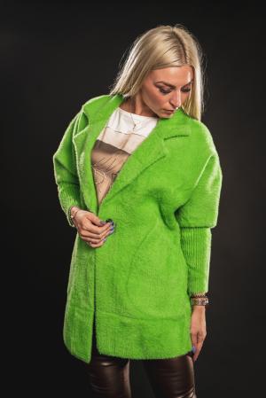 Jacheta verde din lana cu buzunare [0]
