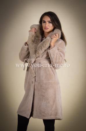 Palton bej cu blana [6]