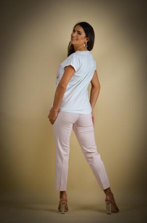 Pantaloni dama  eleganti roz [3]