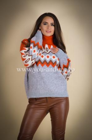 Pulover din lana cu motiv norvegian [1]