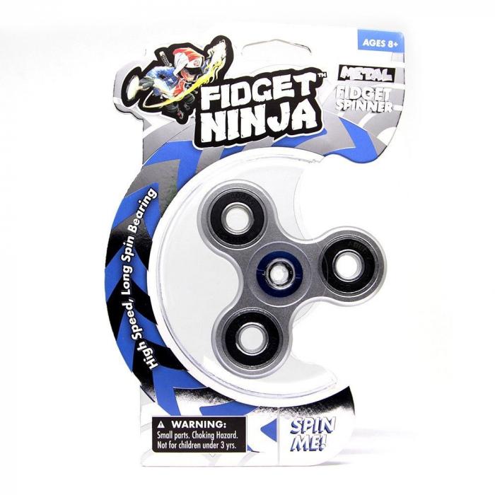 Fidget Ninja Metal Spinner - Argintiu [0]