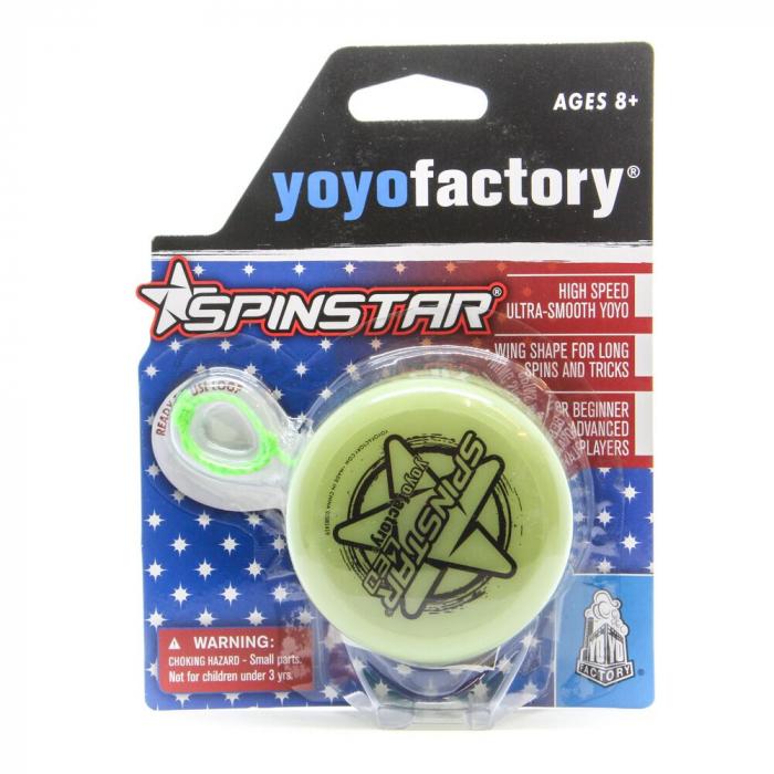 Yoyo Spinstar cu LED - Verde Fosforescent 5