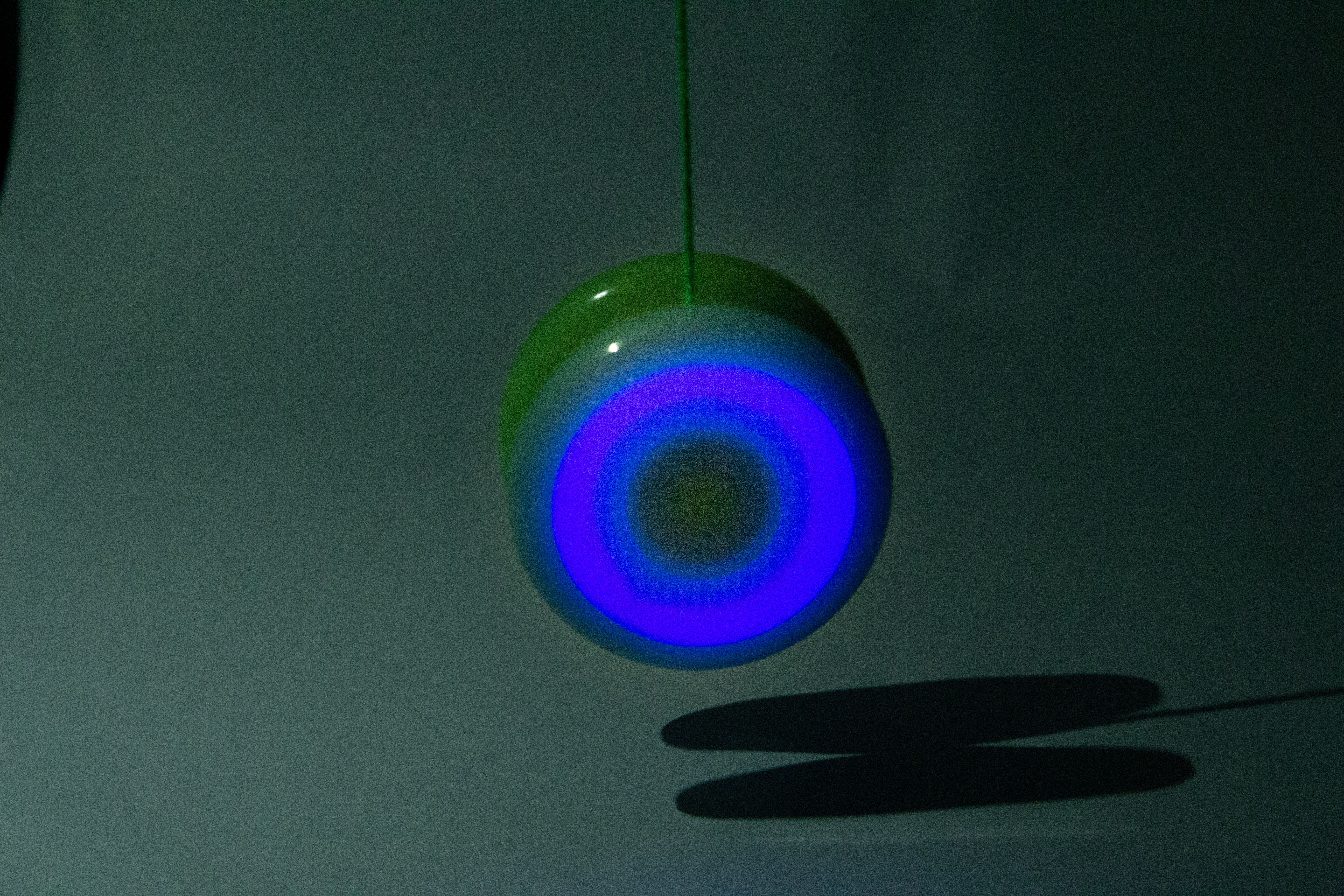 Yoyo Spinstar cu LED - Verde Fosforescent 3