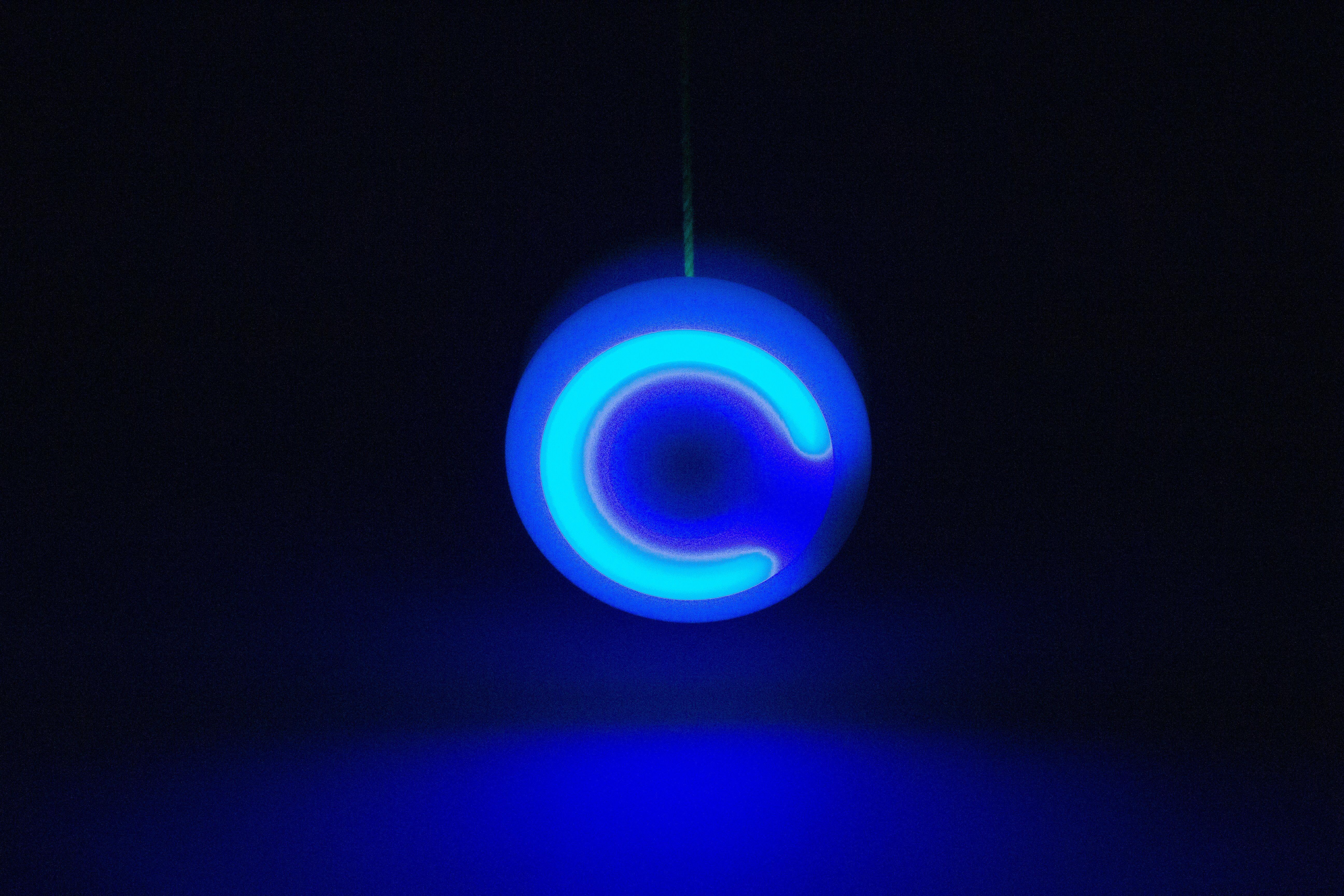 Yoyo Spinstar cu LED - Verde Fosforescent 4