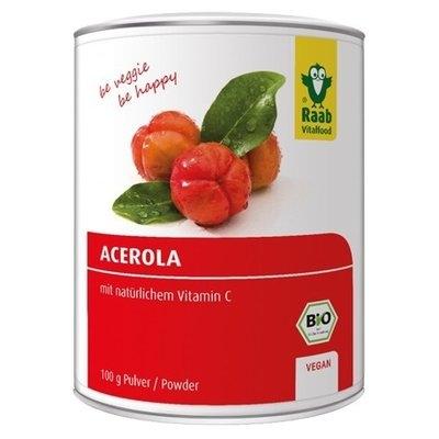 Acerola pulbere bio 100g Raab 0