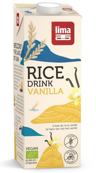 Bautura vegetala de orez cu vanilie eco 1L Lima 0