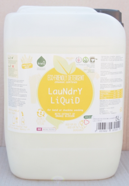 Biolu Detergent ecologic lichid pentru rufe albe si colorate portocale 5L [0]