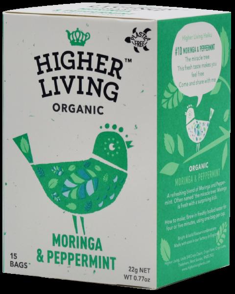 Ceai MORINGA si MENTA eco, 15 plicuri, Higher Living 0
