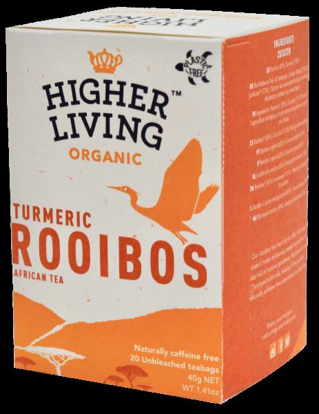 Ceai ROOIBOS si TURMERIC eco, 20 plicuri, Higher Living [0]