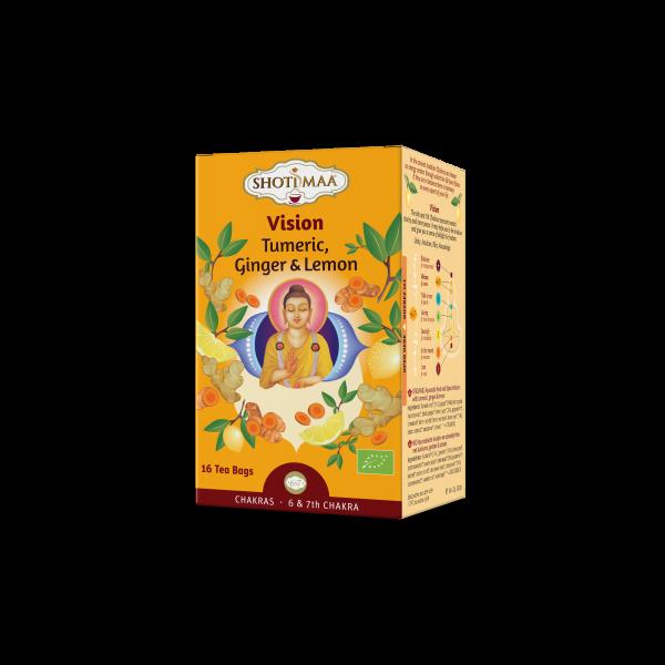Ceai Shotimaa Chakras - Vision - ghimbir si lamaie bio 16dz 0