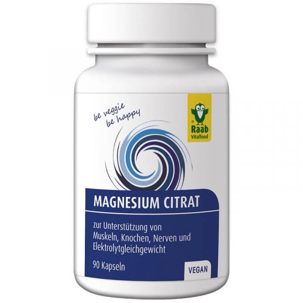 Citrat de magneziu 600mg, 90 capsule vegane RAAB 0