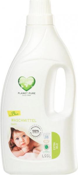 Detergent bio pentru hainutele copiilor - aloe vera - 1.55L Planet Pure 0