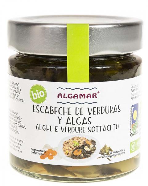 Escabeche de legume si alge marinate eco 190g [0]