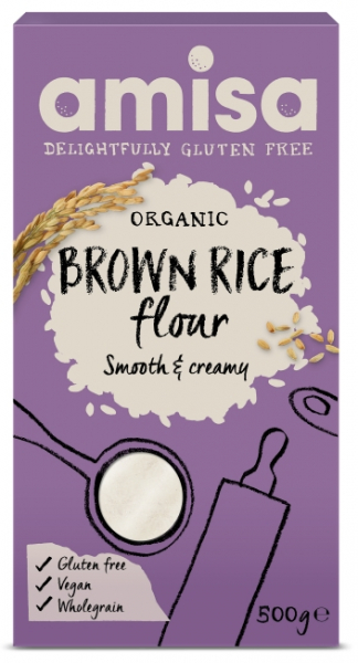 Faina de orez brun fara gluten eco 500g AMISA [0]