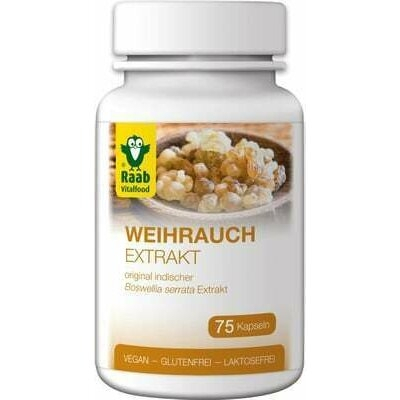 Frankincense (tamaie) extract 500mg, 75 capsule vegane RAAB 0