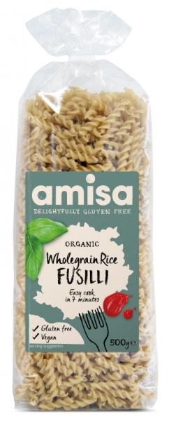 Fusilli din orez integral fara gluten eco 500g 0