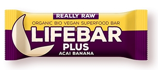 Lifebar plus baton cu acai si banane raw eco 47g 0