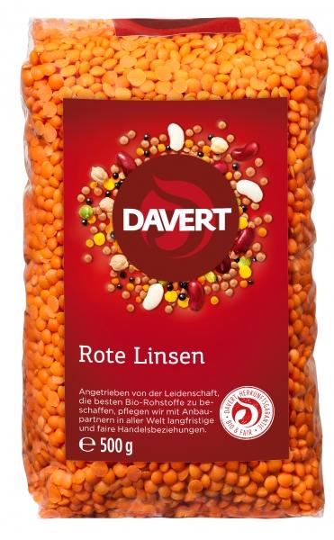 Linte rosie bio 500g DAVERT [0]