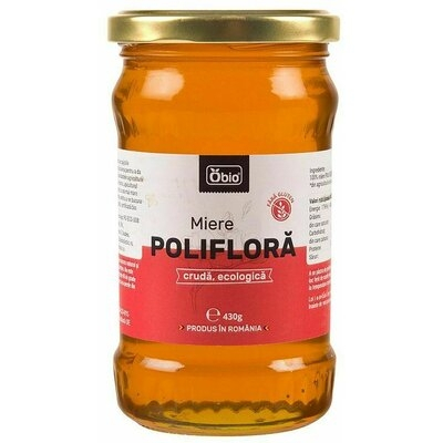 Miere poliflora cruda eco 430g Obio 0