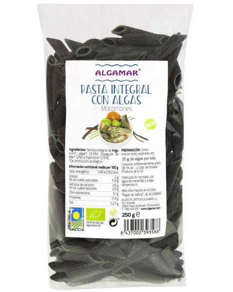 Penne integrale cu alge marine bio 250g [0]