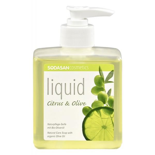 Sapun lichid gel de dus bio citrice masline 300ml SODASAN 0