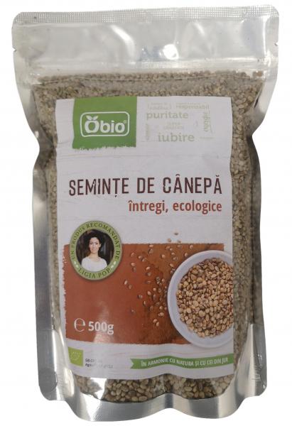 Seminte de canepa intregi raw eco 500g 0