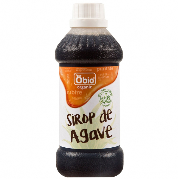 Sirop de agave dark raw eco 500ml Obio 0