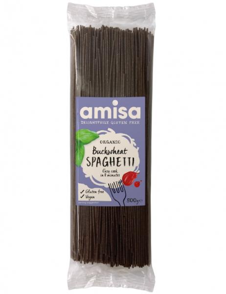Spaghetti din hrisca integrala eco 500g AMISA [0]