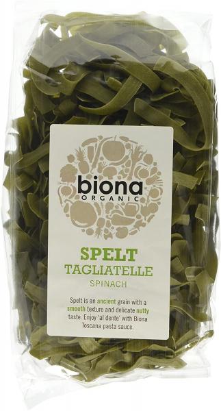 Tagliatelle din spelta cu spanac eco 250g Biona 0