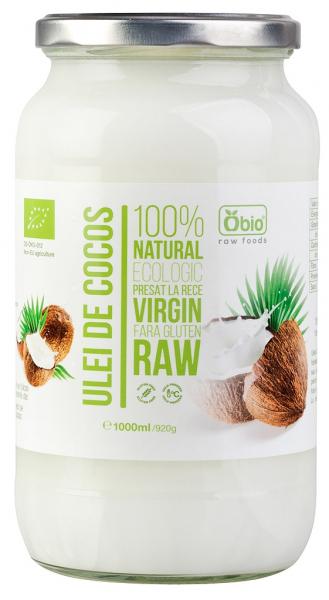Ulei de cocos virgin raw bio 1000ml OBIO 0