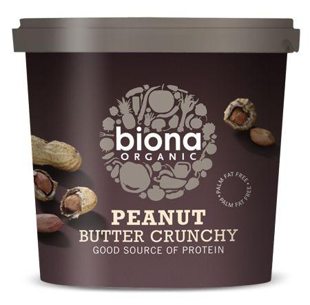 Unt de arahide crunchy eco 1kg BIONA 0