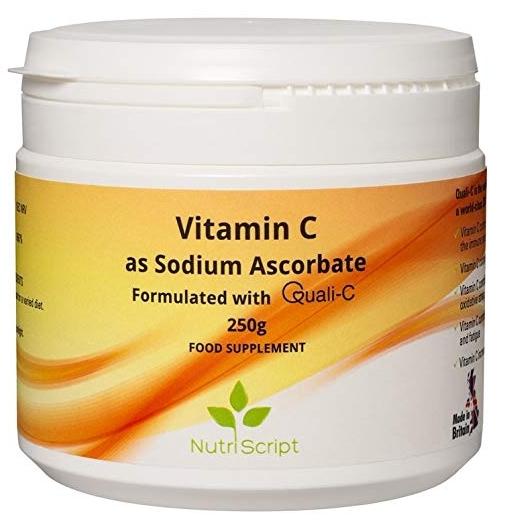 Vitamina C - Sodium Ascorbate ( alcalina) pudra 250gr Nutriscript 0