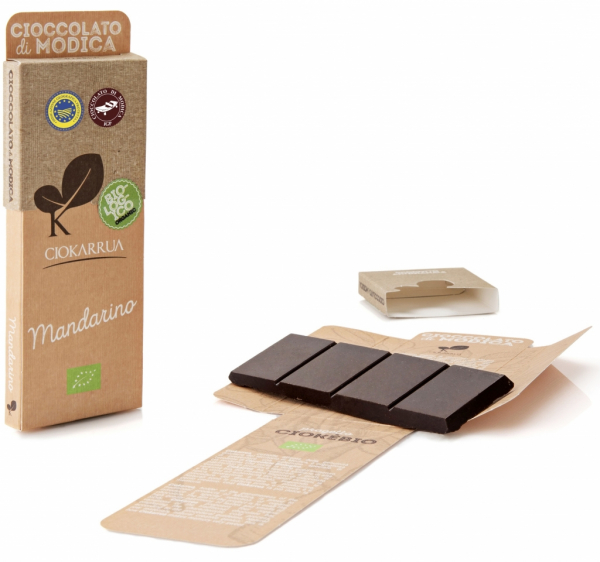 Ciocolata de Modica, Ciokarrua Bio, mandarine, 50g 0