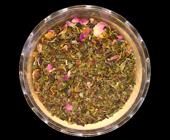 Ceai Beauty Queen, coktail de ceai alb, aromatizat cu fructe, 50g 0