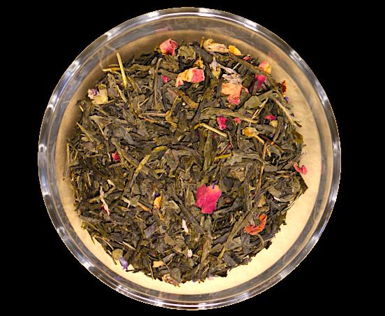 Ceai Blue Sky, coktail de ceai verde si flori, 50g 0