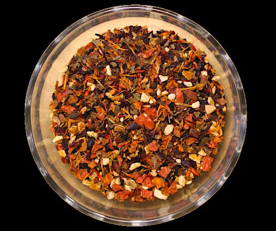 Ceai Strawberry Fields, coktail de fructe, 50g 0