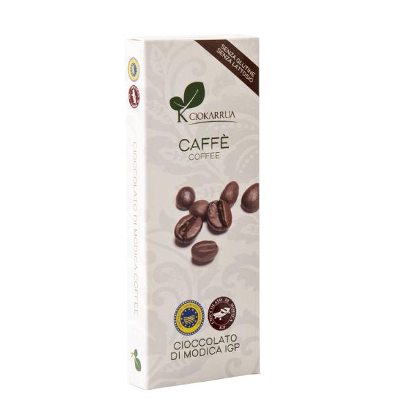 Ciocolata de Modica, Ciokarrua, aroma de cafea, 50% cacao, 100 g 0