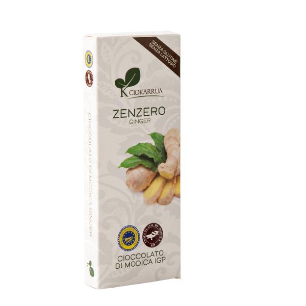 Ciocolata de Modica, Ciokarrua, aroma de ghimbir, 50% cacao, 100 g 0