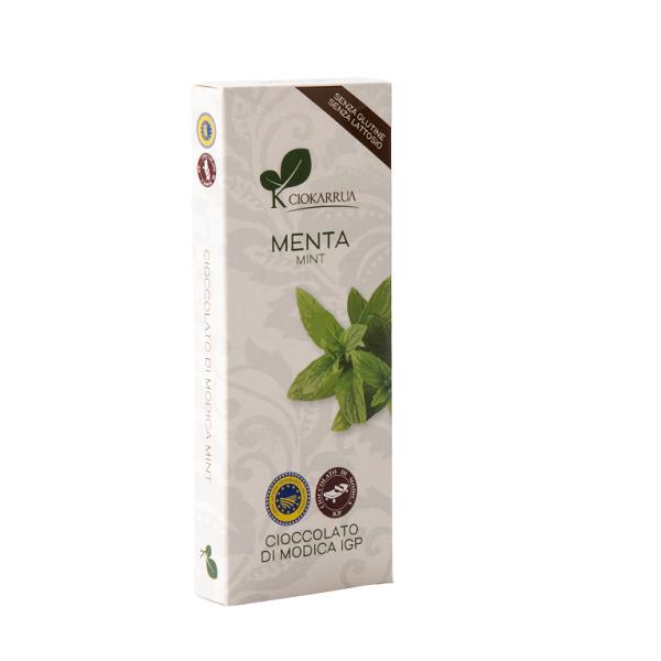 Ciocolata de Modica, Ciokarrua, aroma de menta, 50% cacao, 100 g 0